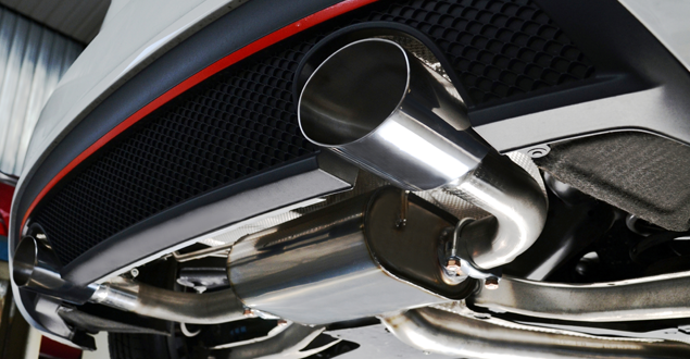 Up Close of Car Exhaust
